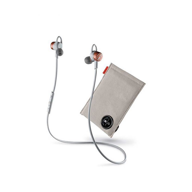 PLANTRONICS BACKBEAT GO 3 CHARGE CASE COPPER GREY/ORANGE WIRELESS EAR BUDS WITH CHARGE CASE - COPPER GREY/ORANGE