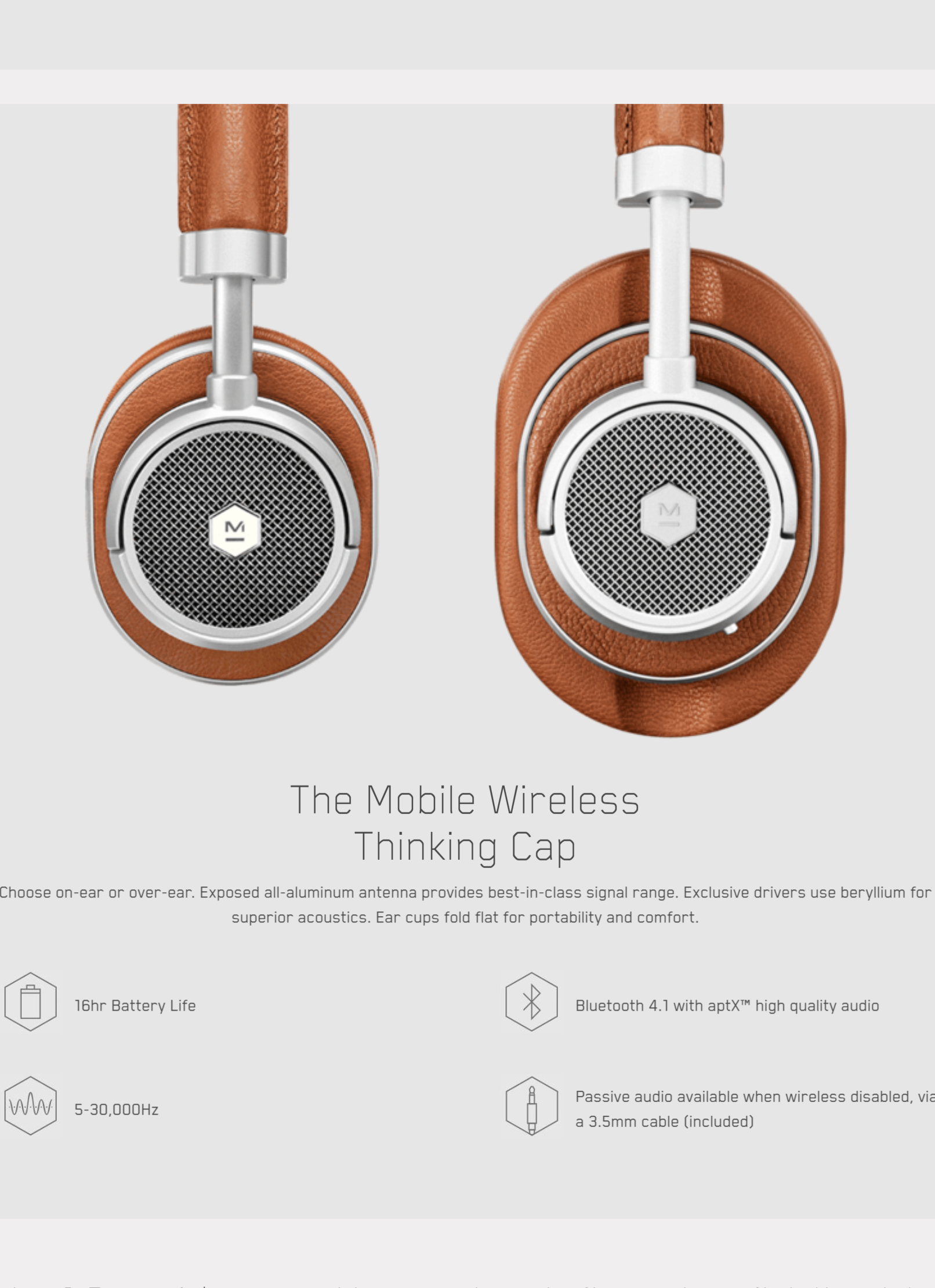 Master & Dynamic MW50+ WIRELESS ON/OVER-EAR HEADPHONE